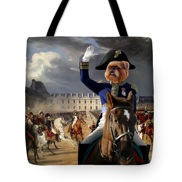 Brussels Griffon - Belgium Griffon Art Canvas Print Tote Bag by Sandra Sij