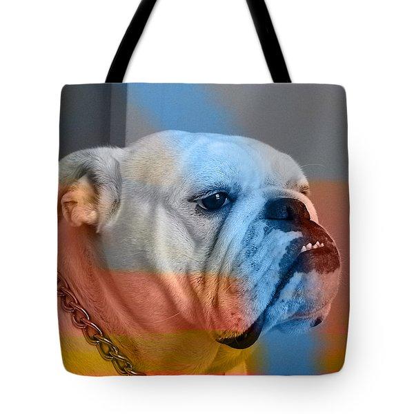 Bulldog Tote Bag by Marvin Blaine