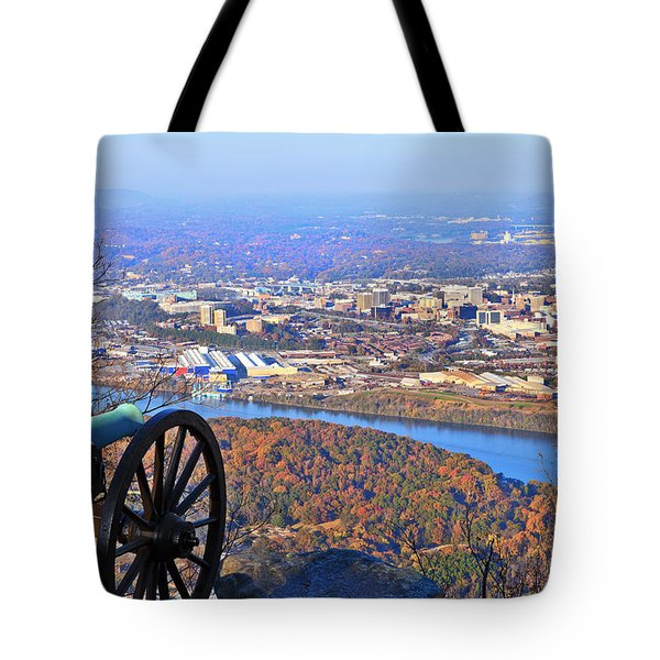 Chattanooga In Autumn Tote Bag by Melinda Fawver