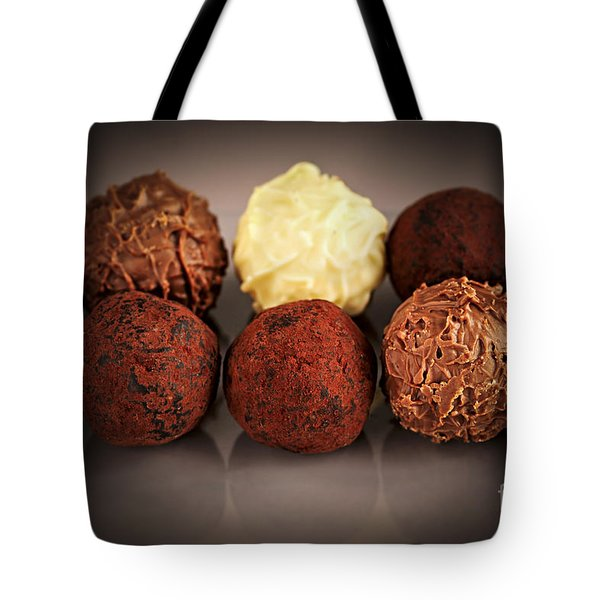 Chocolate truffles Tote Bag by Elena Elisseeva