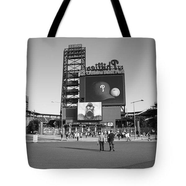 Citizens Bank Park - Philadelphia Phillies Tote Bag by Frank Romeo