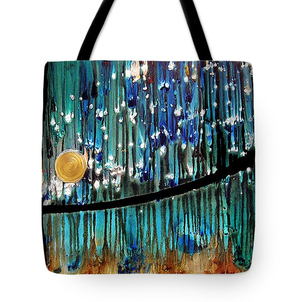Colorful Abstract Tote Bag by Sharon Cummings