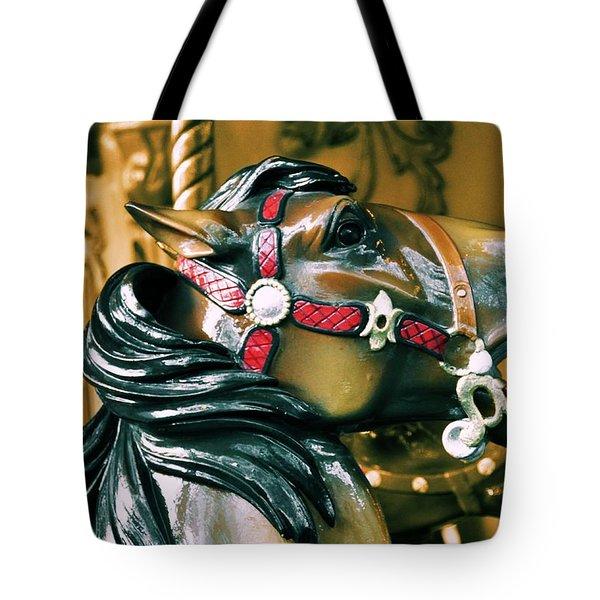 DASHING HORSES Tote Bag by JAMART Photography