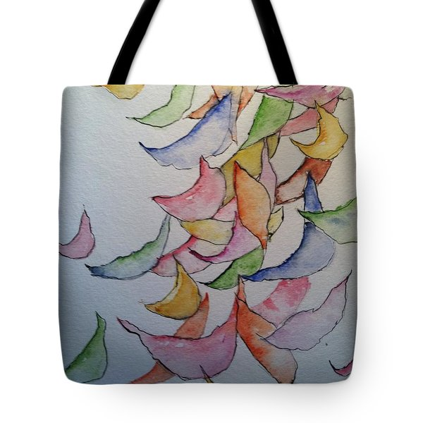 Falling Into Place Tote Bag by Sherry Harradence