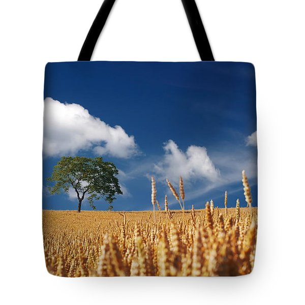 Fields of Grain Tote Bag by Mountain Dreams