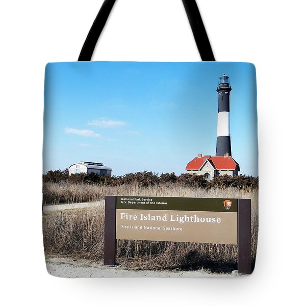 Fire Island Lighthouse Tote Bag by Ed Weidman