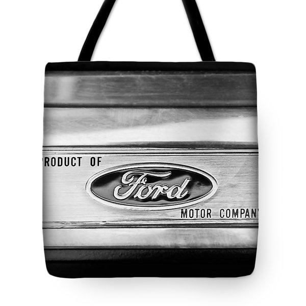 Powered By Ford Emblem -0307bw Tote Bag by Jill Reger