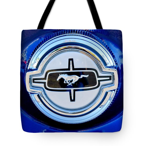 Ford Mustang Emblem Tote Bag by Jill Reger