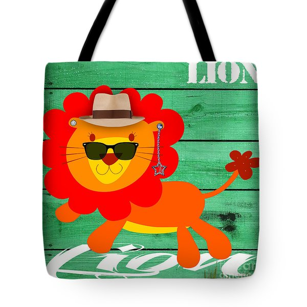 Friendly Lion Collection Tote Bag by Marvin Blaine