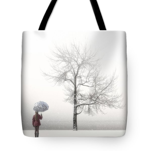 Girl With Umbrella Tote Bag by Joana Kruse