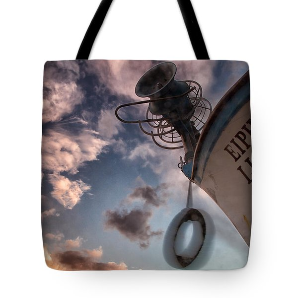 greek fishing boat Tote Bag by Stylianos Kleanthous