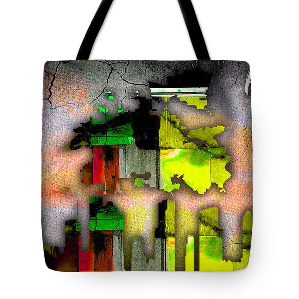 Houston Map And Skyline Watercolor Tote Bag by Marvin Blaine