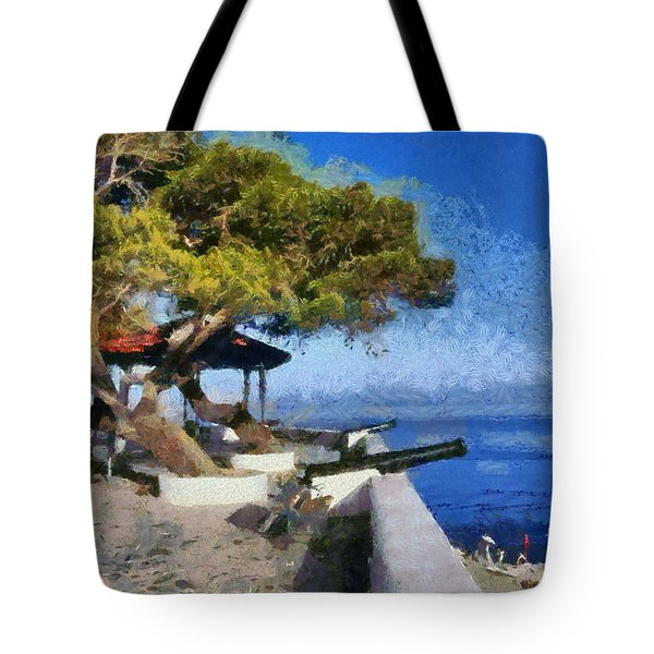 Hydra Island Tote Bag by George Atsametakis