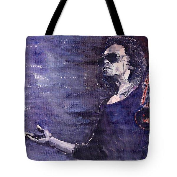 Jazz Miles Davis Tote Bag by Yuriy  Shevchuk