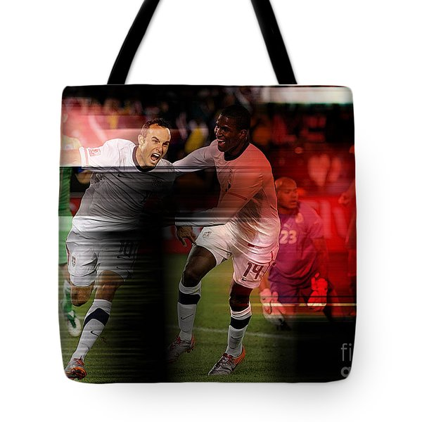 Landon Donovan Tote Bag by Marvin Blaine
