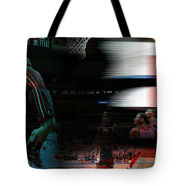 Lebron James Tote Bag by Marvin Blaine