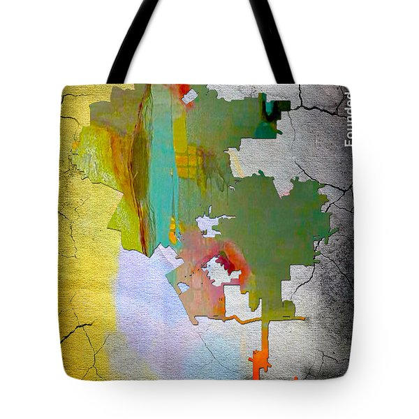 Los Angeles Map Watercolor Tote Bag by Marvin Blaine