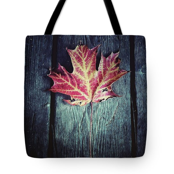 Maple Leaf Tote Bag by Natasha Marco