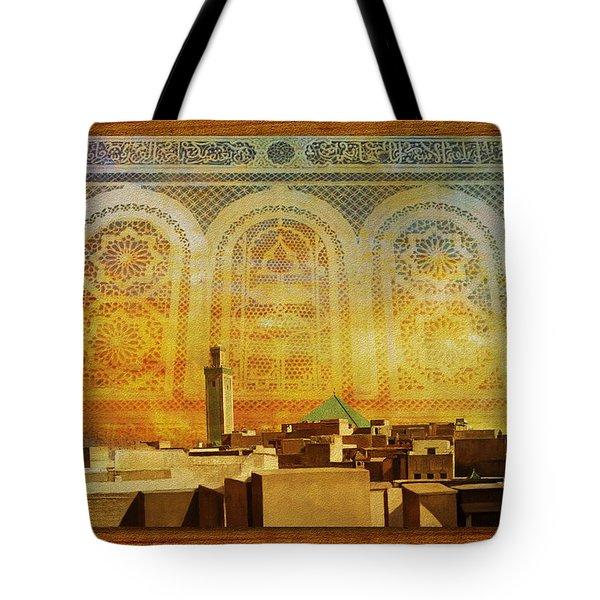 Medina Of Faz Tote Bag by Catf