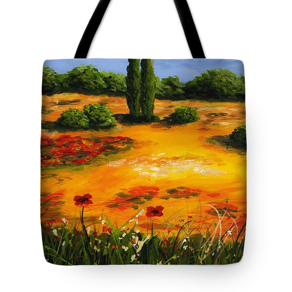 Mediterranean Landscape Tote Bag by Edit Voros