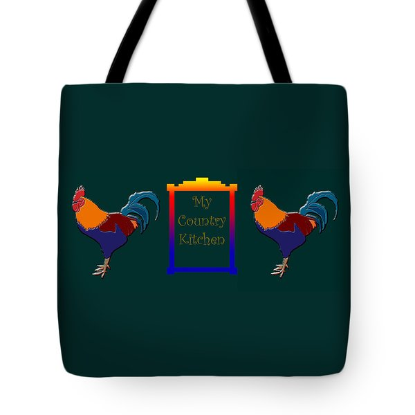 My Country Kitchen Sign Tote Bag by Kate Farrant