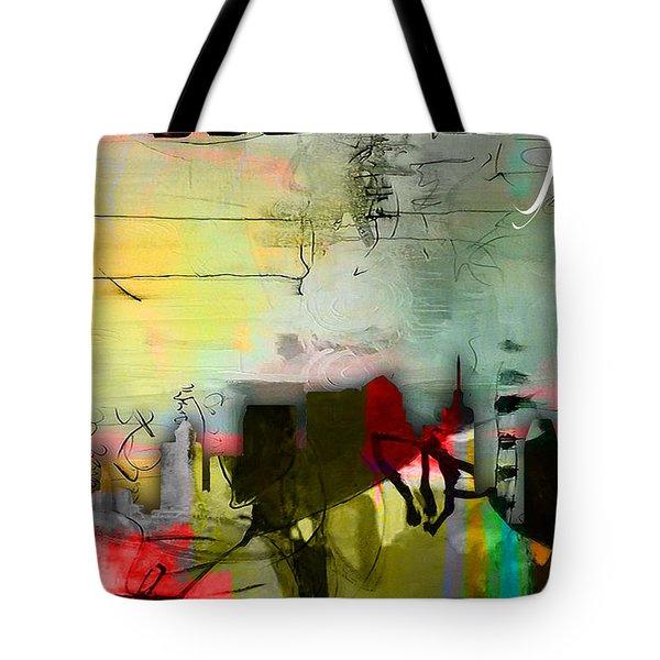 Nashville Skyline Watercolor Tote Bag by Marvin Blaine