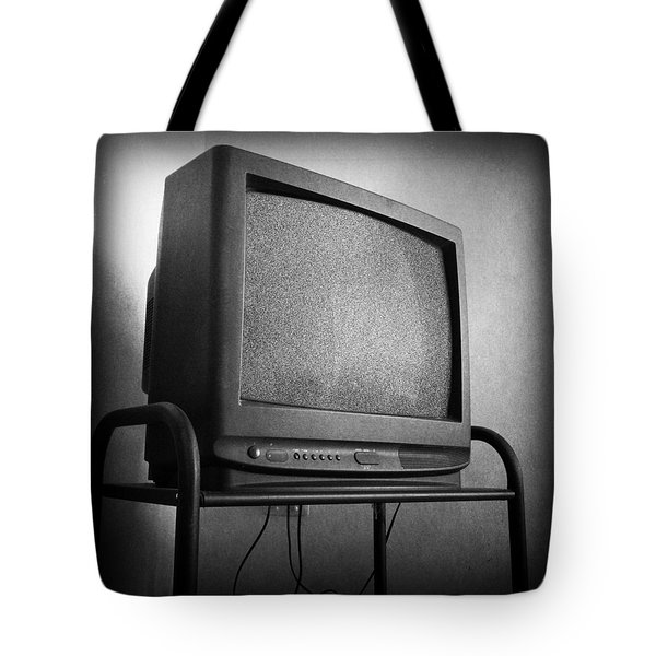 Old Television Tote Bag by Les Cunliffe