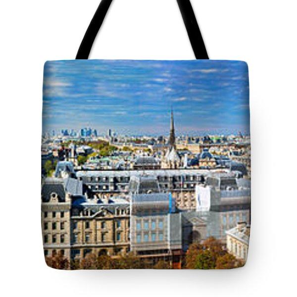 Paris Panorama France Tote Bag by Michal Bednarek