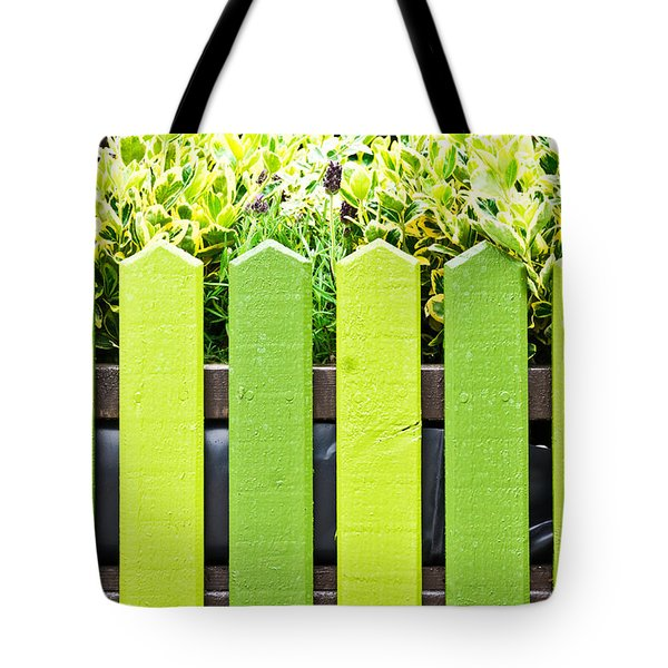 Picket Fence Tote Bag by Tom Gowanlock