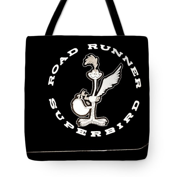 Road Runner Superbird Emblem Tote Bag by Jill Reger