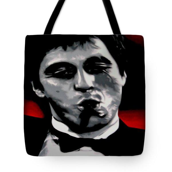Scarface 2013 Tote Bag by Luis Ludzska