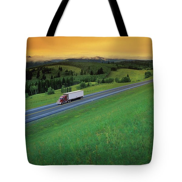 Semi-trailer Truck Tote Bag by Don Hammond