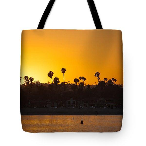 Sunset Santa Barbara Tote Bag by Ralf Kaiser