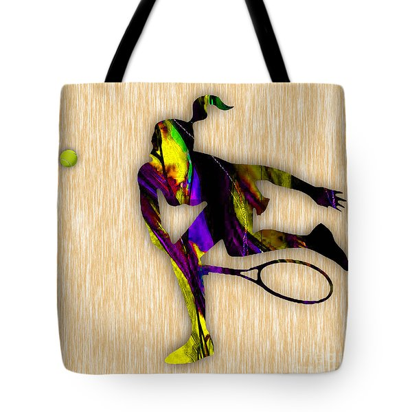 Tennis Match Tote Bag by Marvin Blaine