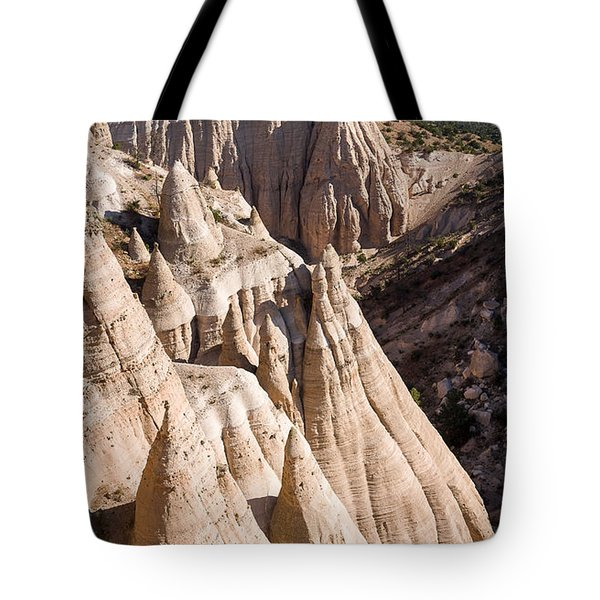 Tent Rocks Tote Bag by Steven Ralser