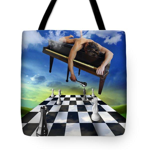 The Piano Tote Bag by Mark Ashkenazi