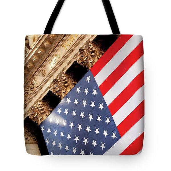 Wall Street Flag Tote Bag by Brian Jannsen