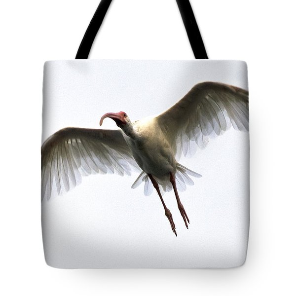 White Ibis Tote Bag by Mark Newman