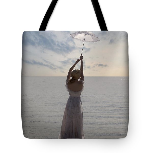 Woman At The Beach Tote Bag by Joana Kruse