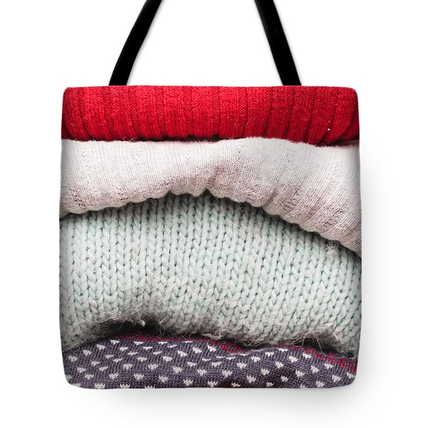 Wool Jumpers Tote Bag by Tom Gowanlock