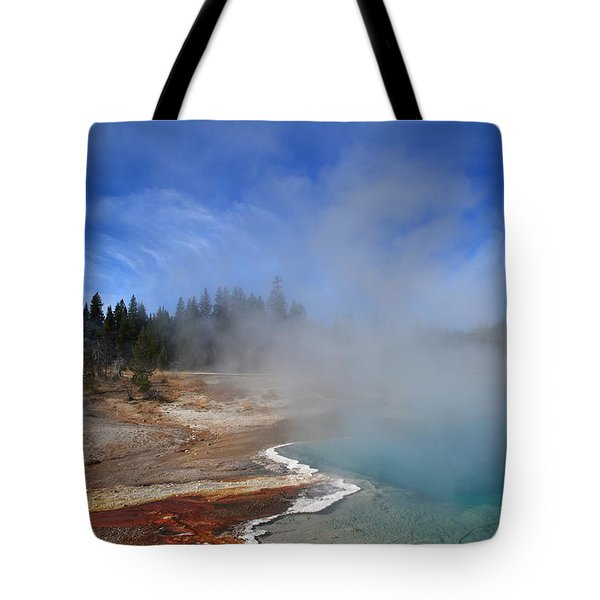 Yellowstone Park Geyser Tote Bag by Frank Romeo
