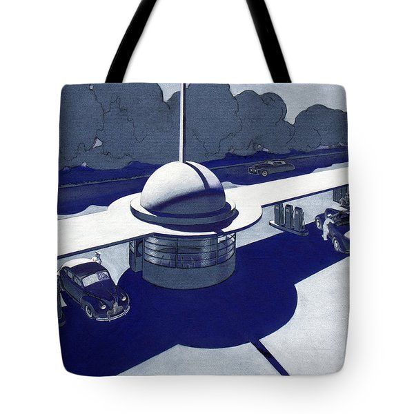 Roadside Of Tomorrow Tote Bag by Robert Poole
