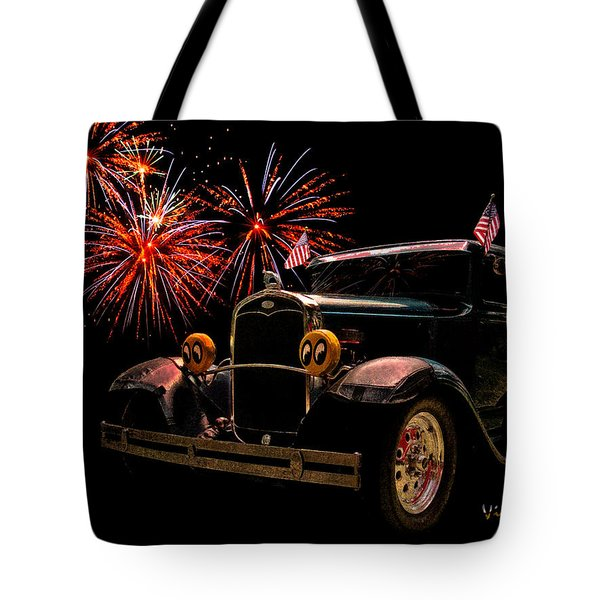 31 Five Window Coupe on the Fourth of July Tote Bag by Chas Sinklier