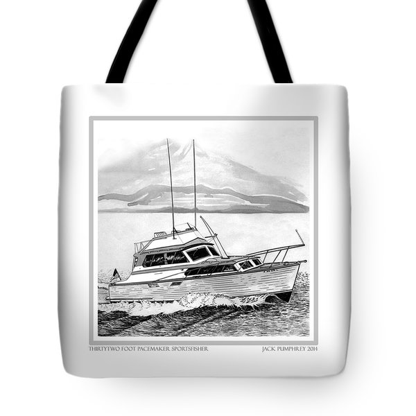 32 foot Pacemaker Sportsfisher Tote Bag by Jack Pumphrey