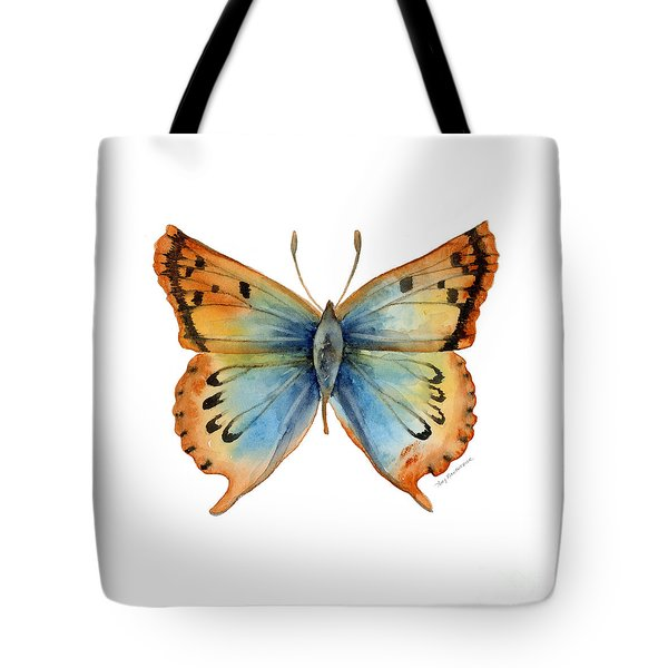 33 Opal Copper Butterfly Tote Bag by Amy Kirkpatrick