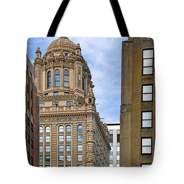 35 East Wacker - Jewelers' Building Chicago Tote Bag by Christine Till