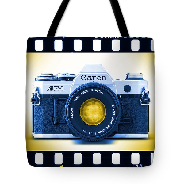 35mm Blues Canon Ae-1 Tote Bag by Mike McGlothlen