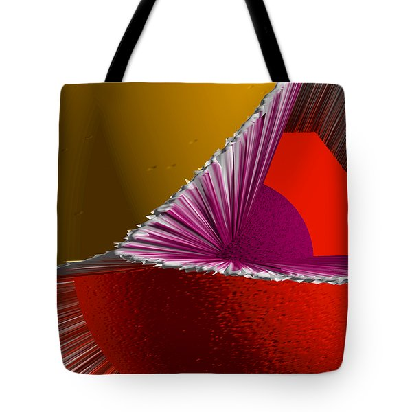 3D Abstract 5 Tote Bag by Angelina Vick