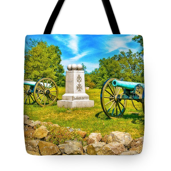 3rd Massachusetts Battery Gettysburg National Military Park Tote Bag by Bob and Nadine Johnston