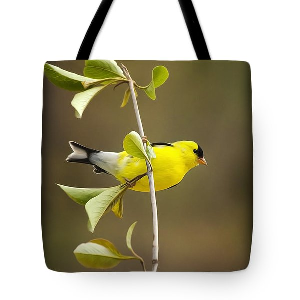 American Goldfinch Tote Bag by Christina Rollo